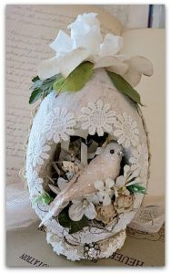 I'm sure this egg is used for either Easter or weddings. Then again, probably depends on the time of year.