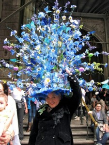 Yes, that's that same woman with her outrageous Easter bonnets. That must be a thing with her since she probably has too much time on her hands.