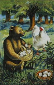 Of course, anyone who knows about bears will be quick to point out that the chicken doesn't have long to live. Seriously, what do you expect would happen in this situation?