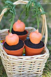 The carrots are actually strawberries. But I'm sure any little bunny will find these delightful.
