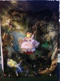 This is based on an 18th century painting by a French guy named Fragonard. It's said to be a masterpiece.