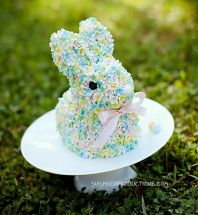 I know this was almost certainly professionally made. But still, who can ever resist this cute and flowery bunny face?
