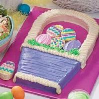 Yes, this is another Easter basket cake. But it's different from the other one. Like 2-dimensional.
