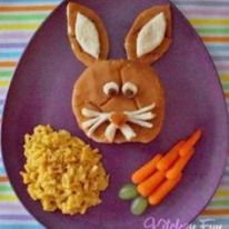 Bunny is of a burger that has cheese attributes. Comes with a carrot and cheesy rice.