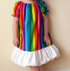 "This one is called, ""Happy As a Rainbow Dress."" Sure it's tacky but I'm positive it's Easter appropriate."