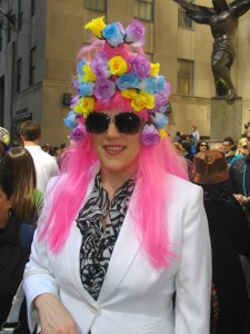 And I'm sure pink will do nicely. Then again, I'm sure this is a wig. At least I hope it is.