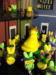 Yes, I showed a Mardi Gras peep diorama before. Yet, this one is different.