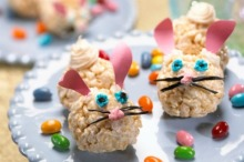 I'm sure the ears aren't edible. But I did a lot of Rice Krispie eggs last year. So I think I should do bunnies this time.