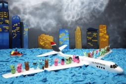 This one is of the Miracle on the Hudson River. Yes, it took place years ago. But this is a cool diorama.