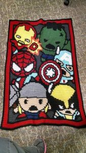 These are adorable. Still, in the movies Wolverine and Spider Man aren't in it. But they're pretty popular in Marvel.