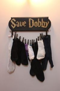 Yes, donate your socks to save Dobby and his house elf friends. Okay, maybe Harry helped free him. But still, this is great.