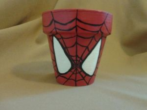 The kind of superhero flower pot that was inspired by one who was bitten by a radioactive spider. And one that contains spiders, too.