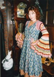 Yes, that's Molly Weasley in her iconic knitted sleeves. And yes, she'll let Fred, George, and Ron have it.