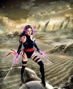 Psylocke originally appeared in UK issues of Marvel as Captain Britain's twin sister. Now she's a well known member of the X-Men.