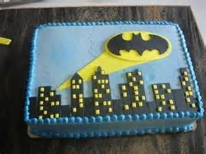 Yes, I know this is another bat signal cake. But this one is on a sheet. That's different.