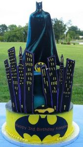 This depicts Batman watching over Gotham City. Guess this is for some little kid with very rich Batman fans for parents.