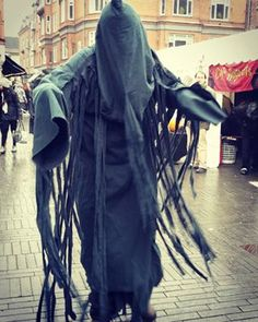 This is a dementor. When it's near, it fills the atmosphere with dread. When it kiss you, it takes your soul.