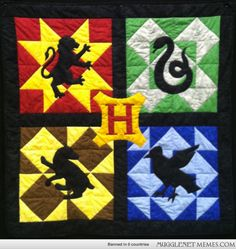 Has all 4 Hogwarts houses in its own color scheme and patterns. More like something I'd want for display though.