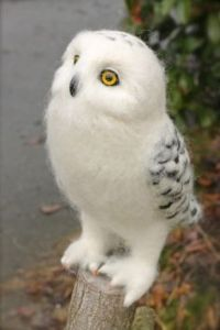 Well, stuffed felt owl anyway that resembles Hedwig. But I think this is amazing.