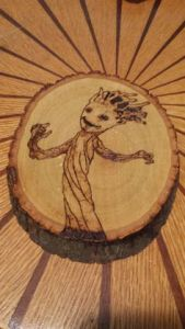 Sure it's a piece of wood. But the image of a dancing baby Groot never gets old.