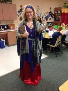 Seems like this costume is worn by an actual teacher. Nevertheless, as far as Trelawney's effectiveness as a seer, it's up for debate. But she did get one prediction right as seen in Book 5.