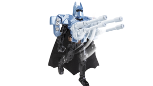 Uh, did anyone who designed this toy get the idea that Batman abhors killing and guns. Violence that would send someone to the emergency room. But not something like this.