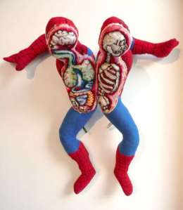 So this plush toy allows you to split Spider Man open in order to see his insides. Sounds very creepy. But do you think any kid would want to see that? No.