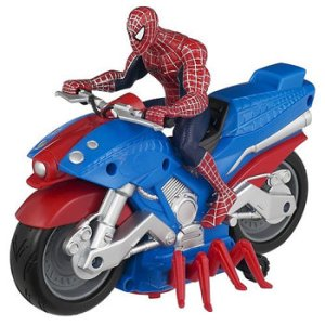 "From I-Mockery: ""Ignoring the fact that Spider-Man has no need for vehicular transportation when he can get around the city via web-slinging: Can somebody please explain to me how the hell adding mechanical spider legs to the base of a motorcycle is going to make it go faster or improve it in any way whatsoever? Hmm, you know what? Don't even bother trying."""