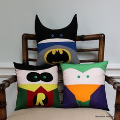 These consist of Batman, Robin, and the Joker. Nevertheless, they're so adorable.