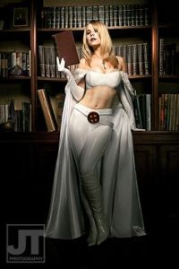 A lot of the Emma Frost costumes tend to be rather skimpy. Sure this shows skin, but at least it's tasteful.