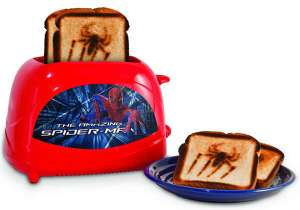 Because nothing makes a kid excited for breakfast than having a burned spider on their toast. Not recommended for those who are afraid of spiders.