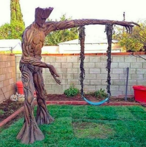 I wonder if this was made from a tree. Seems like it. Still, this is clever.