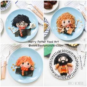 Includes Harry, Ron, Hermione, and Hagrid. Nevertheless, these are adorable.