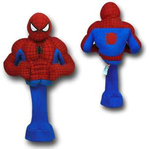 Not sure if I'd put Spider Man and golf together. However, I think just has a partial body of him followed by a sock tube.