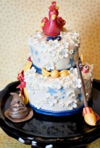 Well, on top, anyway. Nevertheless, I think this is a great cake if you ask me.