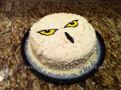 For some reason, this Hedwig cake appears to resemble one angry bird. Not sure why.