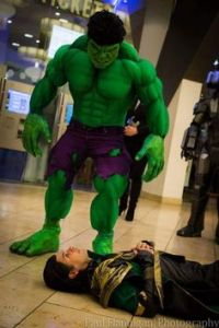 This is when the Incredible Hulk beat Loki's ass in the Avengers. Yeah, the Hulk is a mean, green machine.