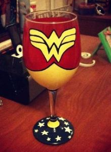 And it's certainly a glass Wonder Woman could drink with. Love how it's painted.