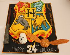 Yes, this is a Hogwarts crest cake. And I'm sure it will go well with those Hogwarts house cookies I showed earlier.