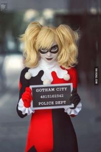 Apparently, she' been arrested in Gotham City. However, as we all know, Gotham's prisons are basically made out of cardboard as far as we know.