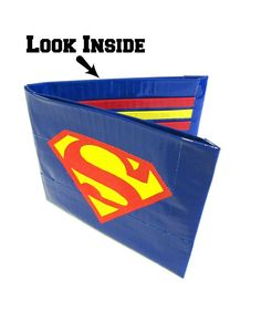 Because as nothing keeps Metropolis safe like Superman, so should this wallet for your money. And it's in Superman's colors, too.