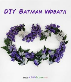 Don't really associate Batman with flowers, particularly purple ones. Yet, I think this one is quite cool.