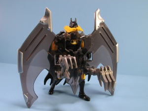 Okay, this looks kind of a tech monster. Also, doesn't Batman fight criminals at night without all this crap on him.
