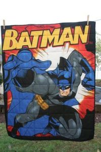 Now this is probably the ultimate Batman quilt. I think it's from Etsy but I'm not sure if it's available. But ogle all you want, Batman fans.