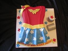 This one has Wonder Woman's outfit with a skirt. And it includes wrist cuffs and tiara.