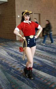 Yes, I know Wonder Woman seems to have a lot of variation with her outfits. This is her 1940s WWII getup.