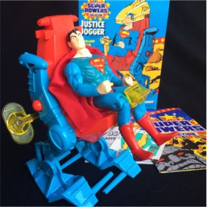 First, why the hell does Superman need a Justice Jogger? Second, I pray to God that the maker's didn't have Christopher Reeve in mind when they made this. Because that would be bad.
