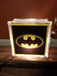 I'm sure anyone would want a Batman glass block like this. Wonder if it gives a bat signal.