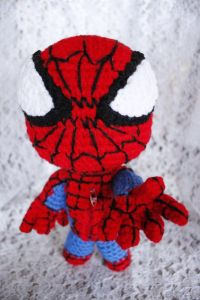 Not sure if this guy could spin a web. But he sure looks somewhat adorable. Not sure about the eyes.