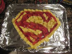 This one contains pineapple and strawberries. Sure it's not a lot of variety. But Superman's symbol only comes in 2 colors.